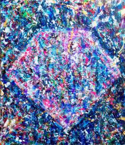 松田光一 光の絵 抽象画 富士山の絵