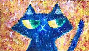松田光一 光の絵 抽象画 猫の絵