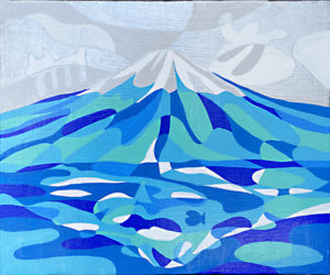 富士山の絵2020